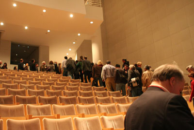 Emptying auditorium